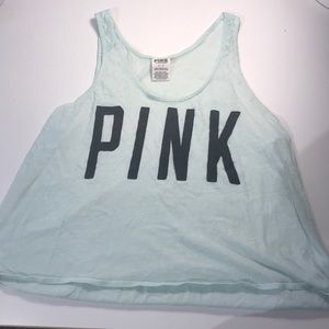 Victoria Secret PINK teal tank top